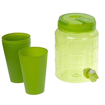 Summit 2L dispensador de Bebidas con Vasos – Verde – se Vende por Menos UK