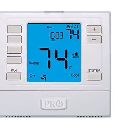 pro1 iaq t755 3 hot 2 cold 7 day thermostat with 4 sq inch screen rh amazon com 4 Wire Thermostat Wiring Nest Thermostat Wiring