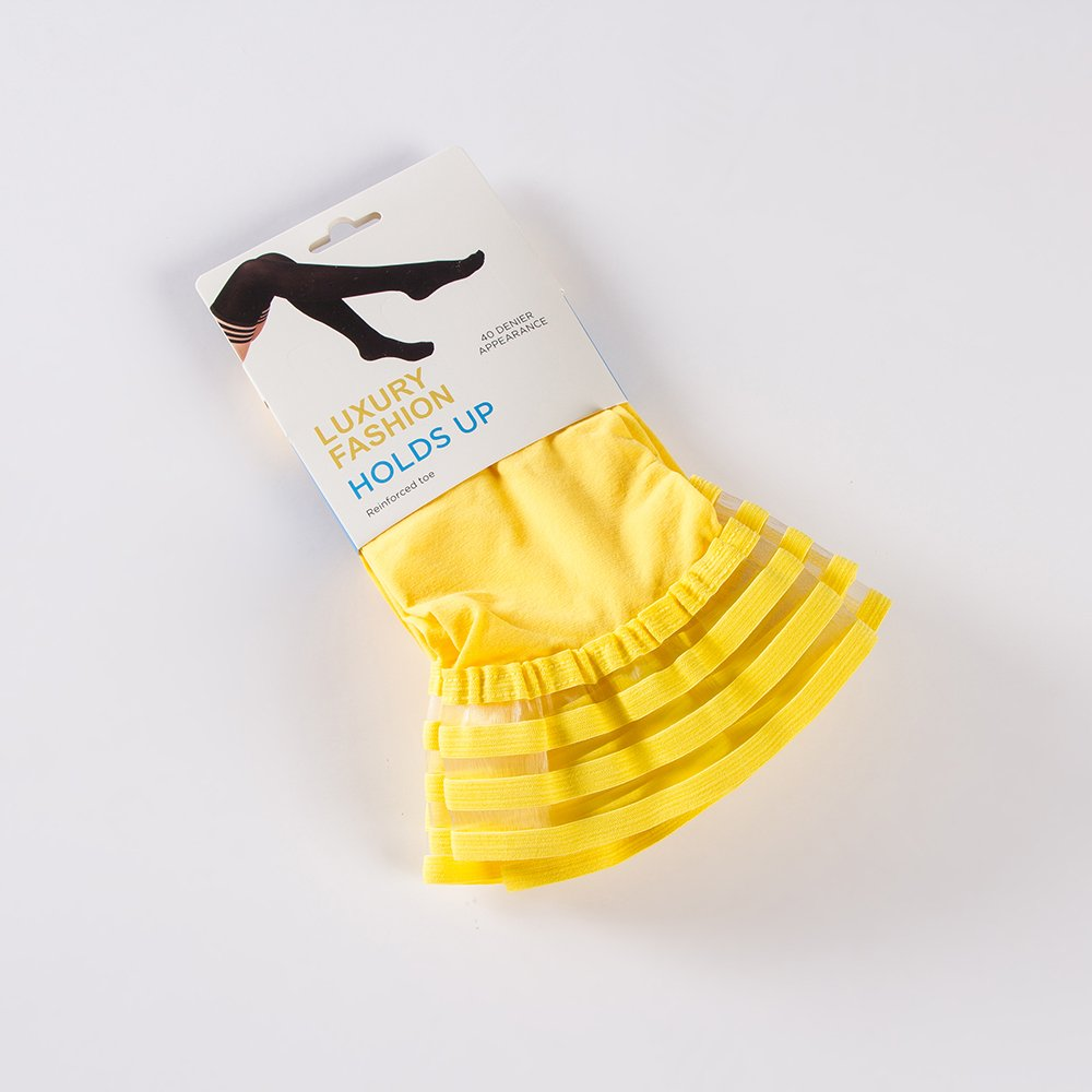 4 Pair Women's Antiskid Silicone Lace Top Opaque Thigh High StockingsBright yellowB by Eabern (Image #5)