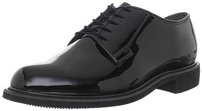 Bates Mens High Gloss Uniform Work ShoeBlack3