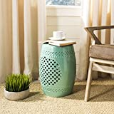 Safavieh Castle Gardens Collection Quatrefoil Light Blue Ceramic Garden Stool