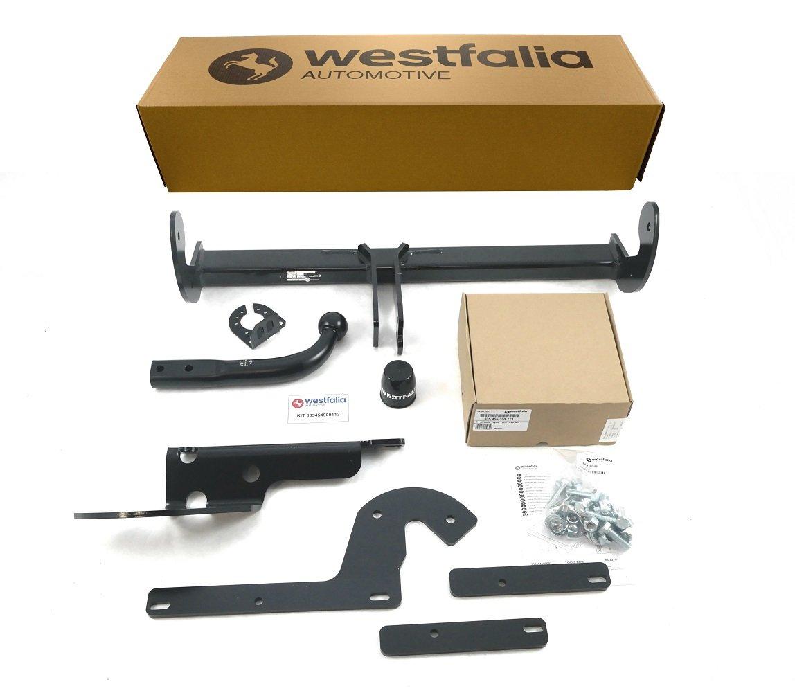 BJ ab 08//14 Starre Westfalia Anh/ängerkupplung f/ür Yaris im Set mit 13-poligem fahrzeugspezifischen Westfalia Elektrosatz