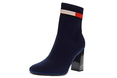 TOMMY HILFIGER Botines de Mujer Zapatos EN0EN00277 406 Botines de tacón Aguja Talla 40 Azul: Amazon.es: Zapatos y complementos