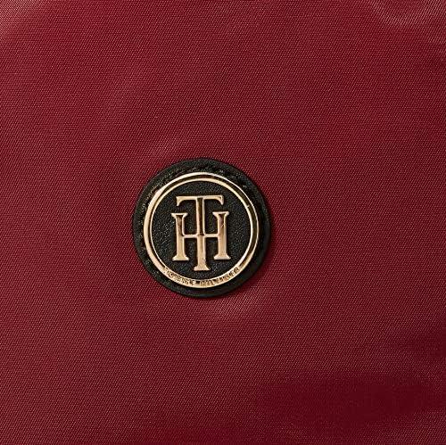 Tommy Hilfiger Poppy Tote Solid, Borse Donna, Rosso (Cabernet), 1x1x1 centimeters (W x H x L)