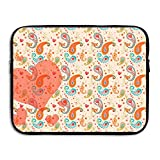 Ministoeb Paisley Pattern Heart Love Laptop Storage Bag - Portable Waterproof Laptop Case Briefcase Sleeve Bags Cover