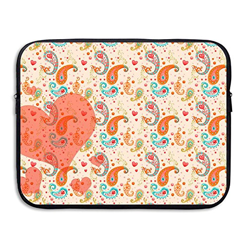 Ministoeb Paisley Pattern Heart Love Laptop Storage Bag - Portable Waterproof Laptop Case Briefcase Sleeve Bags Cover by Ministoeb (Image #4)