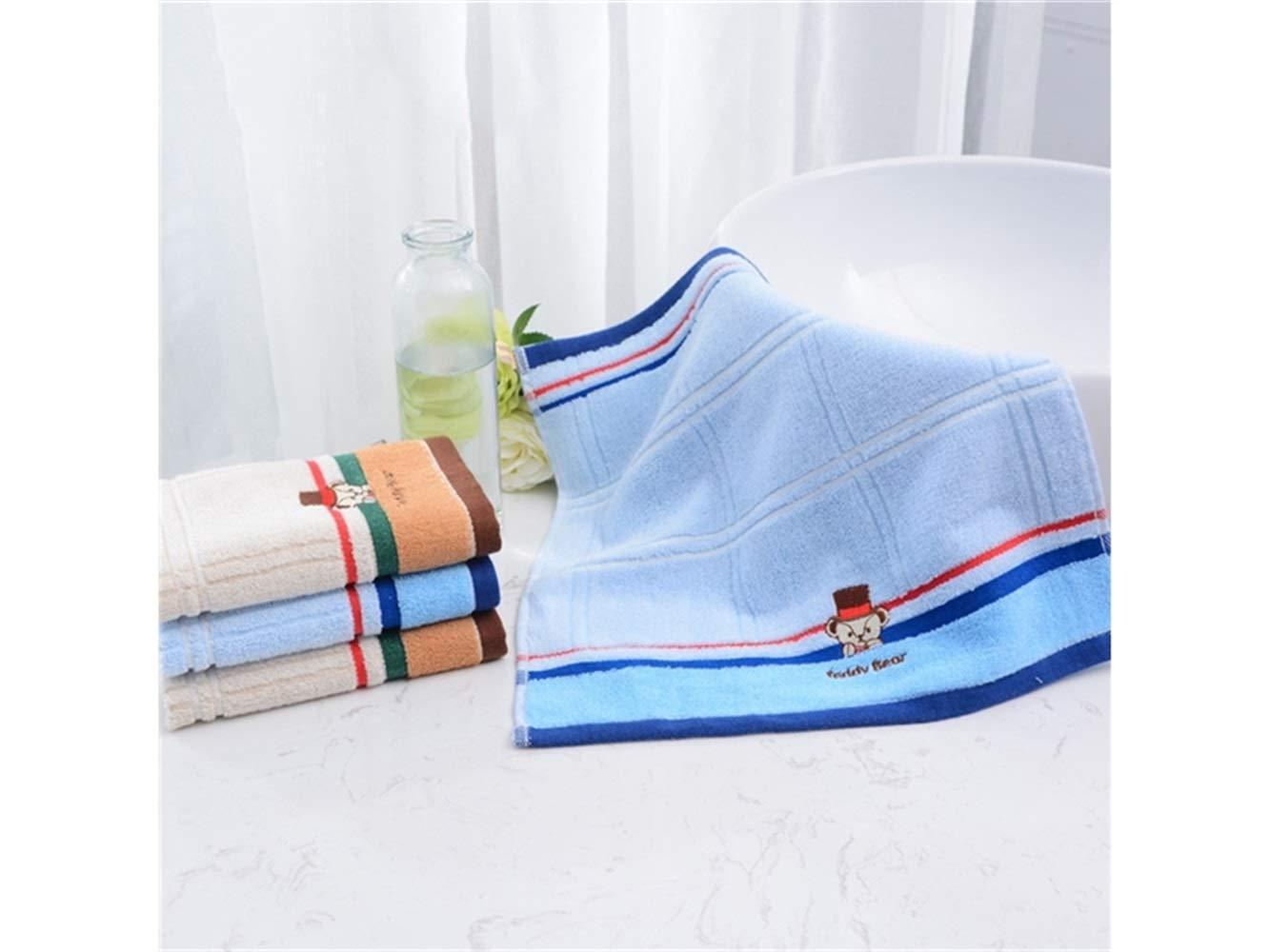 Juguete de baño divertido Oso de dibujos animados bebé algodón absorbente toalla de cara Toalla de bebé saliva toalla cuadrada niños (azul) Para bebé (Color ...
