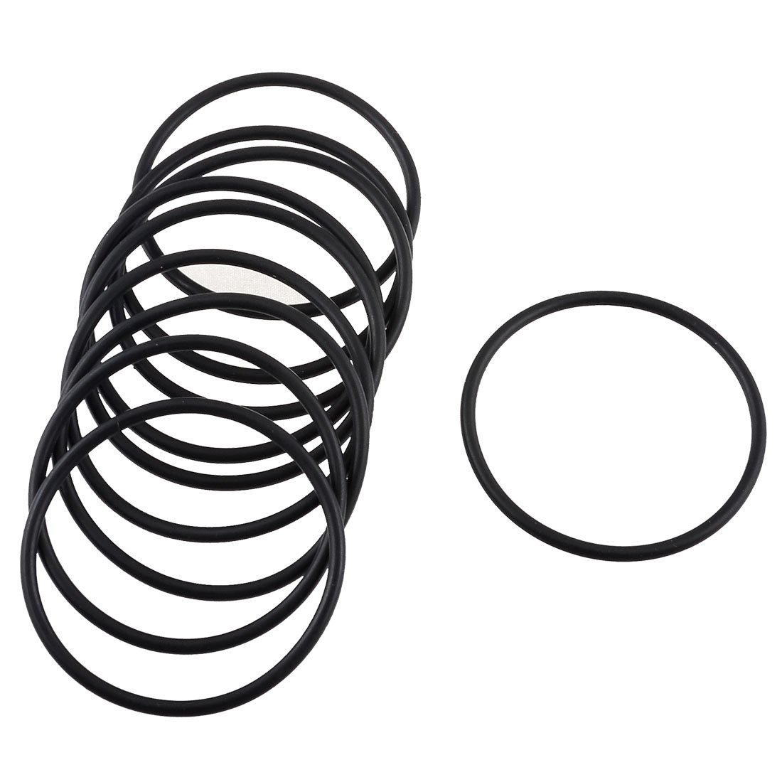 Schwarz 46/MM X 41/MM X 2,5/mm Gummi O Ring Oil Seal Dichtung 10/PCS