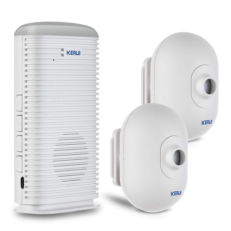 KERUI - Sistema de Alarma Inalámbrica, Sensores Infrarrojos Pasivos, Detectores de Movimiento por Infrarrojos, Sirena, 433 MHz, Seguridad para el ...