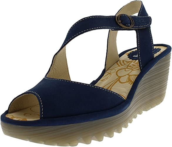 Ladies Fly London Yamp Cupido Open Toe Low Heel Summer Casual Sandals All Sizes