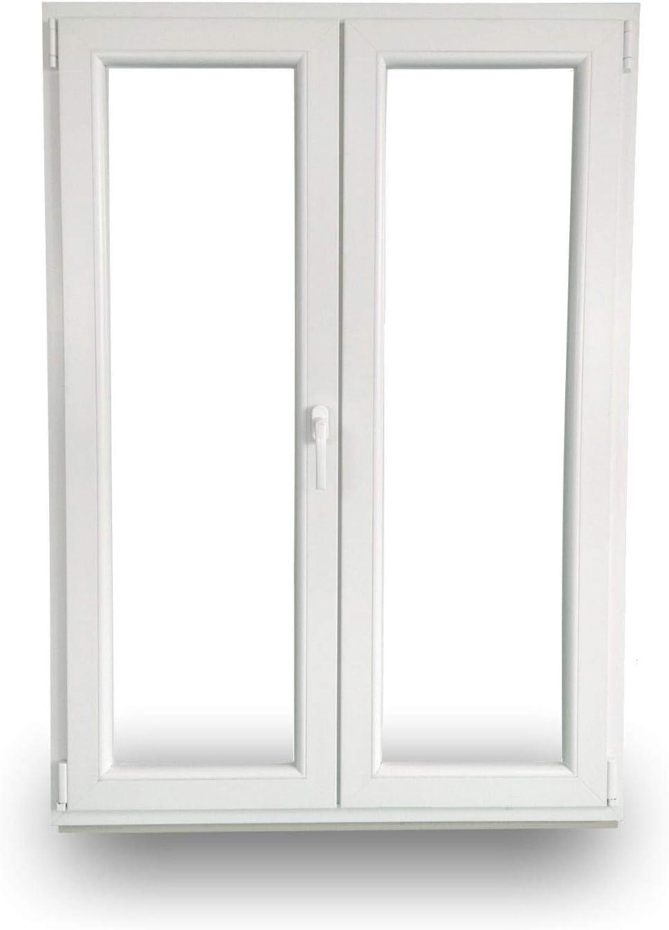 BxH: 2000x1900mm Dreh Rechts JeCo Kunststofft/ür Balkont/ür Stulpt/ür Dreh-Kipp Links 2-Fl/ügelig 2-Fach-Verglasung 60mm Bautiefe
