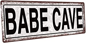 Homebody Accents Babe Cave Metal Sign, She Shack, She Shed, Street Sign