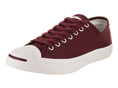 0ed0c3a276d4 Converse Unisex Jack Purcell Jack Ox Dark Burgundy White Casual Shoe 7.5  Men US
