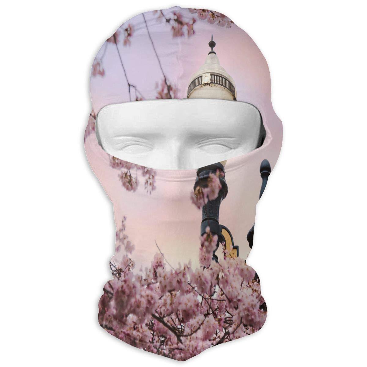 Balaclava Peach Flower Street Light Full Face Masks UV Protection Ski Hat Womens Neck Warmer for Outdoor