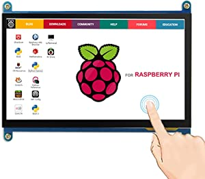 ELECROW 7 Inch Capacitive Touchscreen HDMI Monitor 1024x600 TFT LCD Display HD Screen for Raspberry Pi 4B, 3B, Banana Pi, Windows 10 8 7