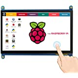 ELECROW 7 Inch Capacitive Touchscreen HDMI Monitor 1024x600 TFT LCD Display HD Screen for Raspberry Pi 4B, 3B, Banana Pi…