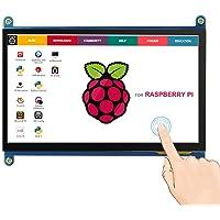 Elecrow - Monitor HDMI TFT LCD de 7 Pulgadas, 1024 x 600 HD, con función táctil para Raspberry Pi B+/2B Raspberry Pi 3B