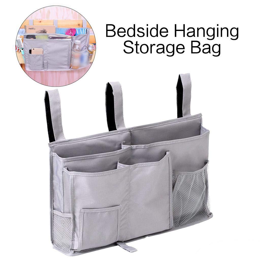 LERTREE Bedside Storage Bag Waterproof Caddy Hanging Organizer Holder for Bed Rails Car Dorm