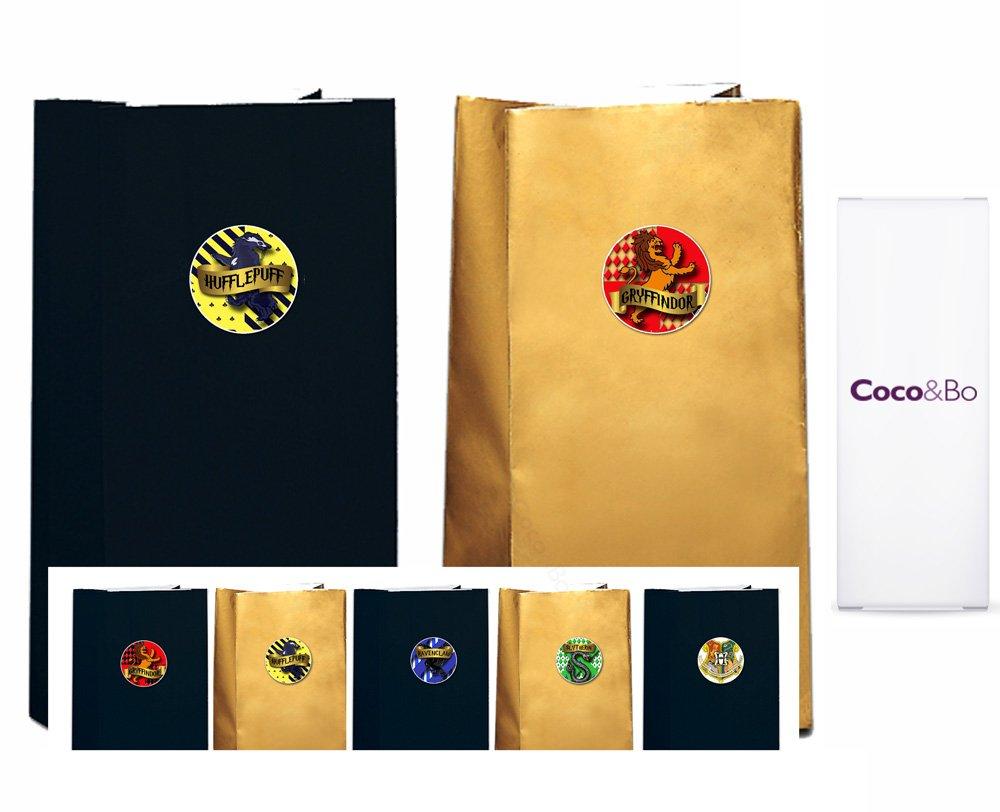 5 x Bolsas negras y doradas con temática de Harry Potter y ...