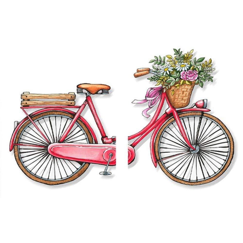 Glz Ölgemälde Kreuzstich Bike Two Pair Malerei Aufkleber Bohrer Cross Stitch Magic Cube Bohren Bohren voll B07PHQ27CX | Elegantes und robustes Menü