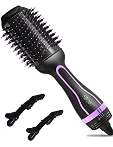Hair Dryer Brush, Abody One-Step Hair Dryer & Volumizer with Negative Ionic, Ceramic Coating, 4 IN 1 Hot Air Brush for Drying, Styling, Straightening and Curling, Leakproof Plug
