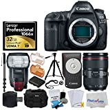 Canon EOS 5D Mark IV DSLR Camera + EF 24-105mm f/4L is II USM Lens + Canon Speedlite 600EX II-RT + Canon RC-6 Wireless Remote Control + Lexar Professional 1066x 32GB VPG-65 Card - Deluxe Video Bundle