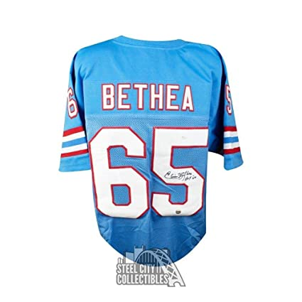 Image Unavailable. Image not available for. Color  Elvin Bethea Autographed  Jersey - HOF Custom Blue COA - JSA ... 34561211c