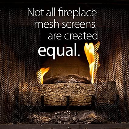 Fireplace Mesh Screen Curtain. 22u0026quot; High (9 22). Includes 2