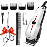 Rantizon Mains Hair Clipper Set Professional Hair Cutting Kit for Men Skin-Friendly Blades Electric Hair Cutting Machine Barber Clippers Set Precision Trimmer Multi Grooming Kit with Attachments Free Gift Scissors etc.