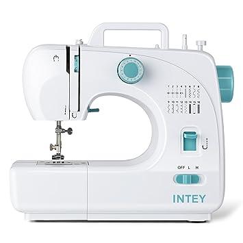 INTEY máquina de Coser, Máquina Coser Portátil Eléctrico Doméstico Automático con Control de la Velocidad, Máquina de Coser eléctrica de casa, 16 Modelos de ...