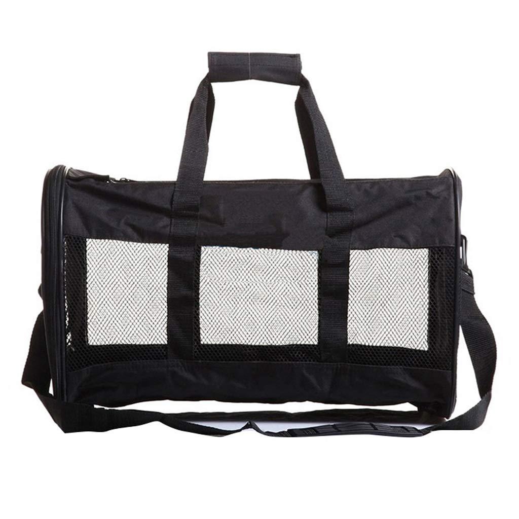 Dog Carrier Pet Backpack Black Soft Edge Pet Carrier Breathable Lightweight All Steel Design Dog Tote 19.2x11.8x11.8 Inch (Black)
