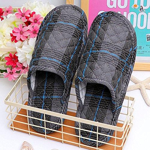 Fankou l arte del cotone pantofole inverno piscina home soggiorno coppie maschio di pavimenti morbidi pavimenti in legno macchina silenziosa lavare, femmina 36-38 uomini e donne alla fine del 40-42, p