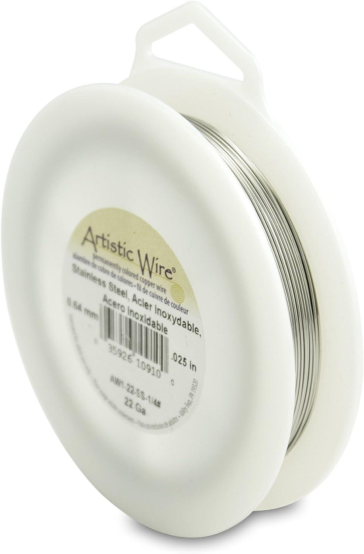 Stainless Steel Artistic Wire 22 Gauge Wire 1//4 Pound