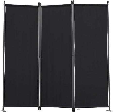 Angel Living Biombo Separador de 3 Paneles, Decoración Elegante, Separador de Ambientes Plegable, Divisor de Habitaciones, 169X165 cm (Negro): Amazon.es: Hogar