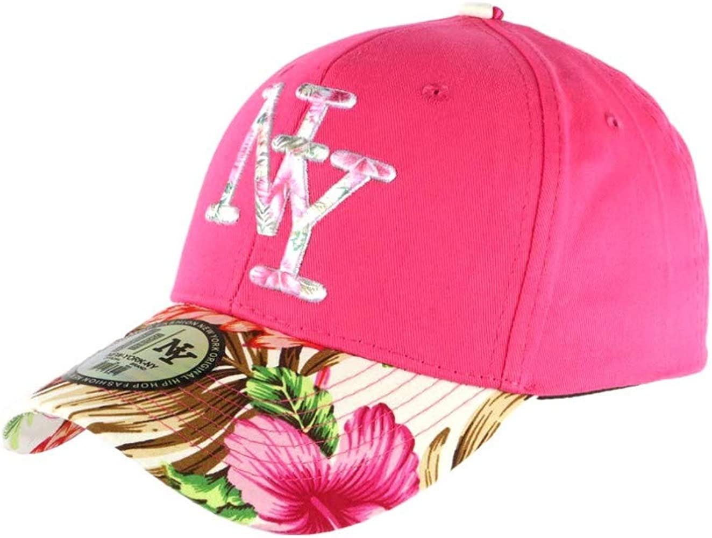 Gorra NY Rosa y Beige con Flores de béisbol Fashion Tropic ...