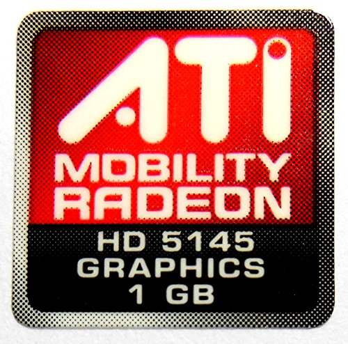 Original ATI Mobility Radeon Graphics HD5145 1GB Sticker 16.5 x 16.5mm [558] ()