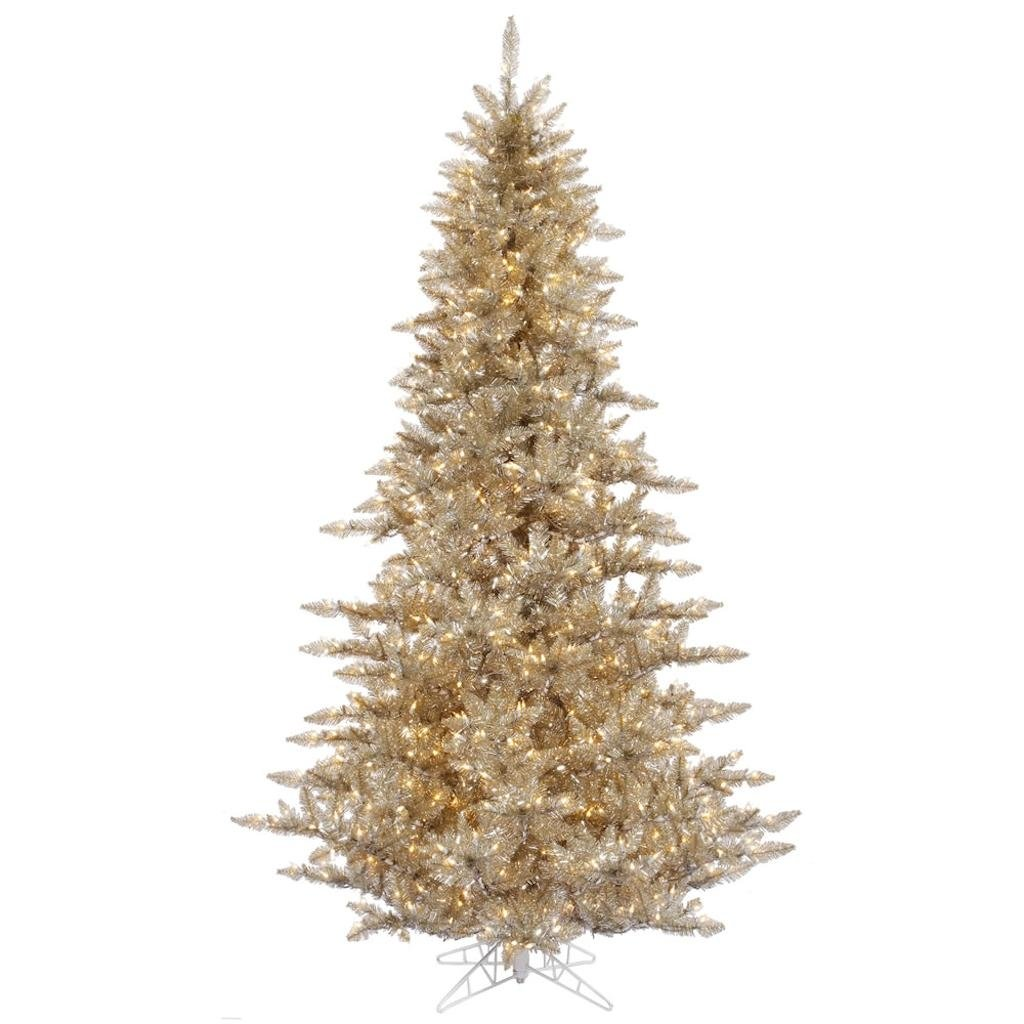 Vickerman 437544 - 120'' Champagne Fir Tree with 1150 Clear Lights Christmas Tree (K166386)