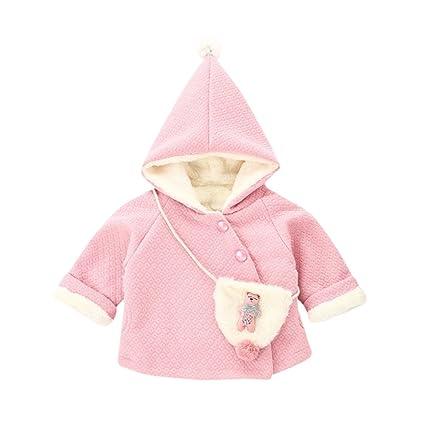 Cappotto Bimba Elegante Invernale Abbigliamento Bambino Parka Neonato Bambino  Bambini Ragazzi Ragazze Palla Caldo Inverno Top Vestiti Cappotto + +  Piccola ... 857a4ea33be
