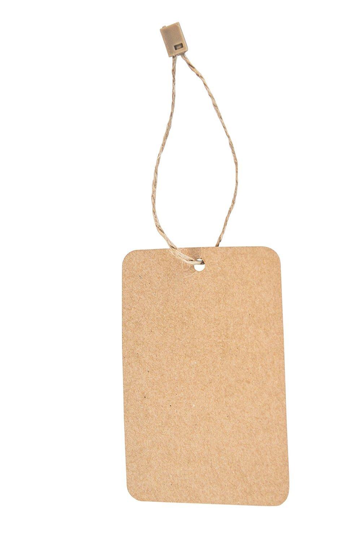 Kraft Hang Tags with Hemp Twine - Combo Pack 100 Swing Tags with Hemp Fasteners