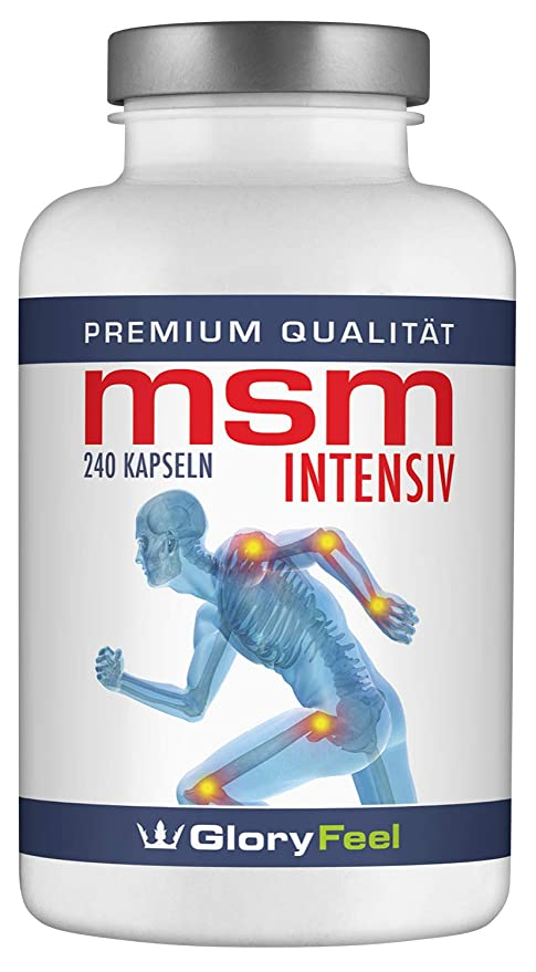 NUEVA RECETA: Ahora mayor dosificación, 800mg por cápsula de azufre puro orgánico MSM Intensivo