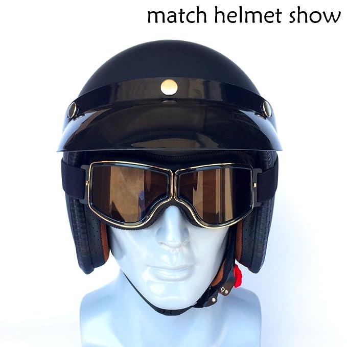 YOPRIA Occhiali Vintage Moto Chopper Harley Vespa Scooter Casco Aviatore Vintage Goggles Biker pilota del Motociclo Motocross Cruisers Occhiali Sportivi per Protezione