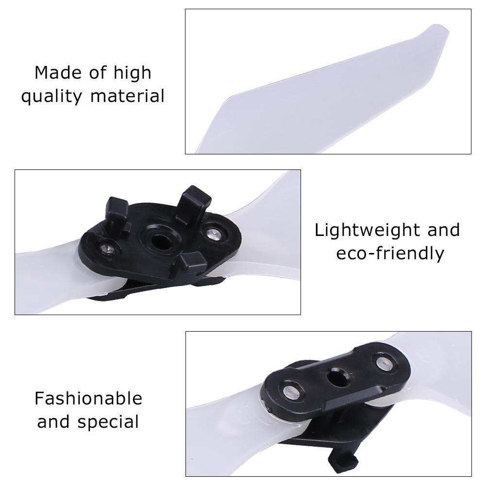 Luminous Low-Noise Quick-Release Foldable CW CCW Propellers Blades for DJI Mavic Pro Platinum Platinum Propellers Dilwe 2 Pairs DJI Mavic Pro
