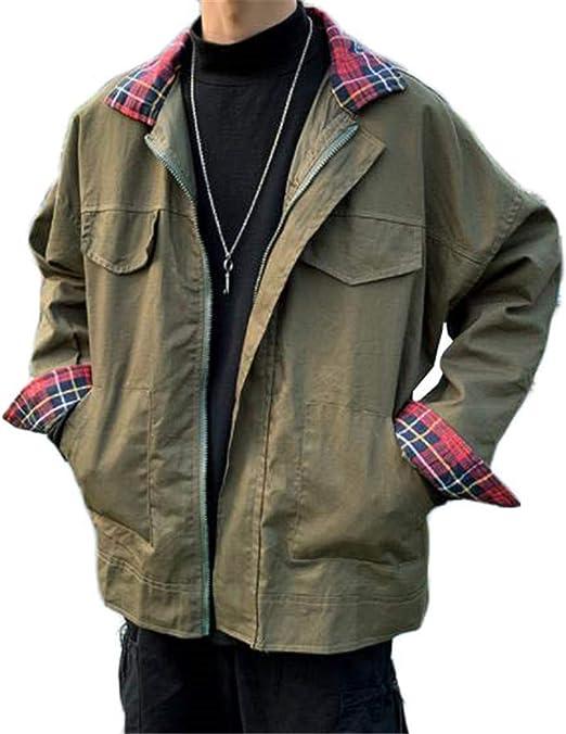 [ンーセンー] ジャケット メンズ 長袖 無地 ウインドブレーカー 秋冬 アウター カジュアル 防風 軽量 大きいサイズ