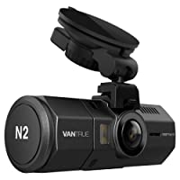 Dashcam vorne hinten--Vantrue N2 dual Full HD 1080P Dash Cam mit 12MP, auto Kamera mit guter Nachsicht, Eskortieren für sicheres Fahren. HDR ,6G Linse und nahe 360° dual Lens(170°, 140°) mit G-Sensor, Notfall Versperrung, Sony Exmor IMX323 Sensor, Bewegungserkennung, Parkmodus, Schleifeaufnahme, GPS Modus(nicht inkl.) und Zeitraffer