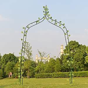 RuanYF Arco de jardín, 4.6X8.3 Pies Soporte de Escalada de Plantas de Metal Enrejado Arco Arbor Enrejado Boda Arco Ceremonia de Fiesta Decoración para jardín al Aire Libre Césped Patio Trasero: Amazon.es: