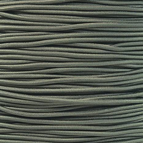 PARACORD PLANET 1//8 Inch Shock Cord Choose from 10 Made in USA and 100 Feet 50 25