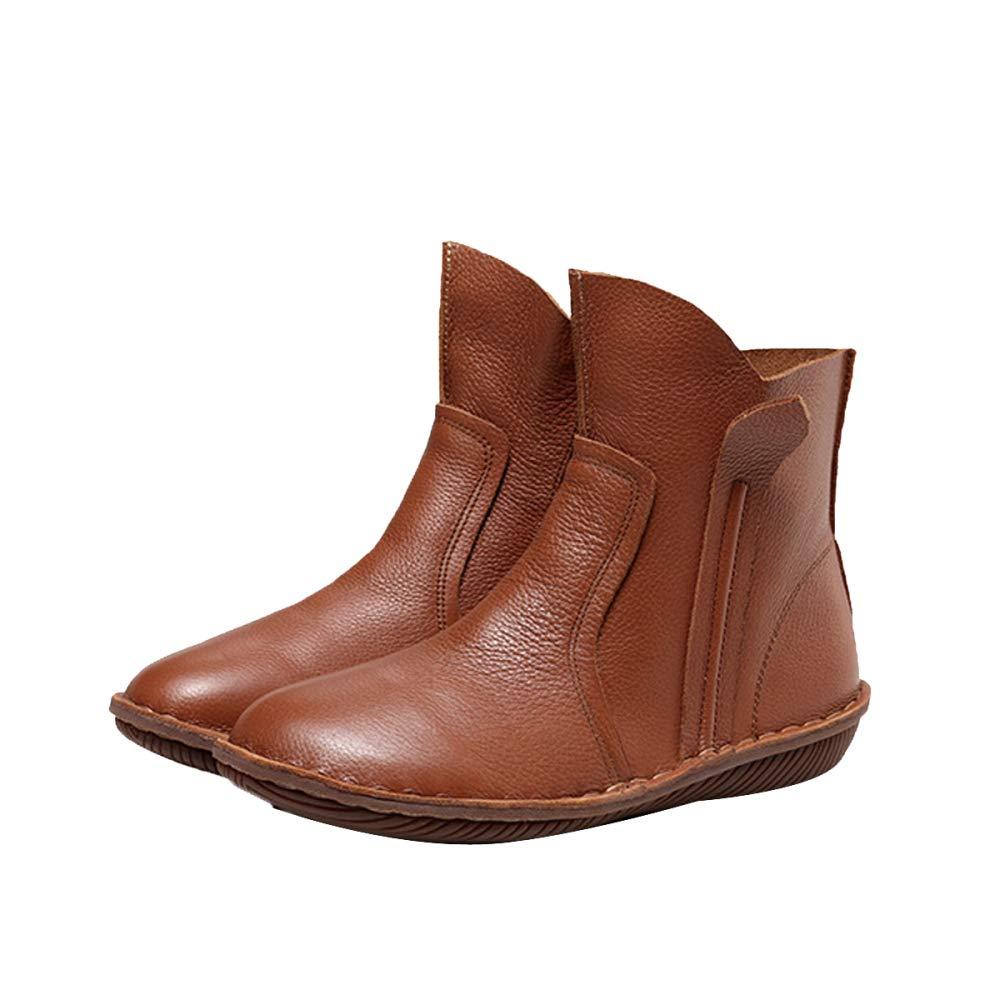 ADEMI Klassische Stiefel Casual Leder Loafers Fahren Flache Schuhe  | Zuverlässige Qualität