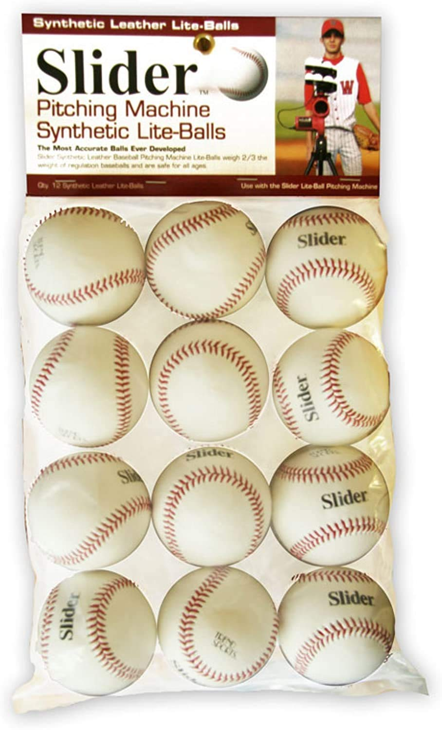 Heater Sports Slider Lite Synthetic Leather Pitching Machine Baseballs by The Dozen