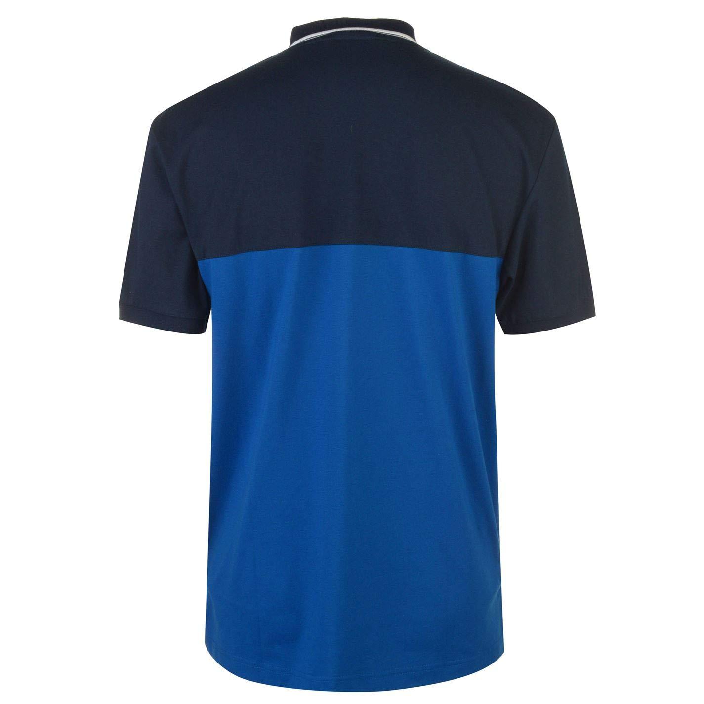 Lonsdale Playera Tipo Polo con Contraste para Hombre Azul Azul ...