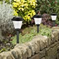 Winchance Solar Pathway Lights Stainless Steel Solar LED Stake Lights Waterproof,8 Packs Matt Black